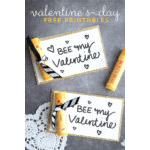 """BEE"" My Valentine Printable"