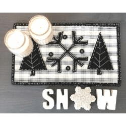 Wool Applique Winter Mat