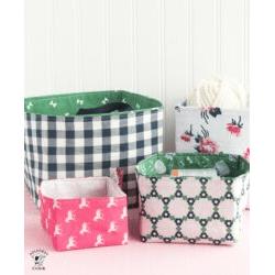 Fabric Basket Pattern Piece - SVG File