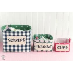 Fabric Basket - Words SVG File