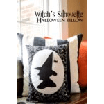 Witch Silhouette for Pillow