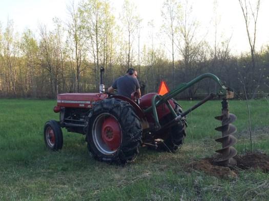 tractor auger birds nest garden farm