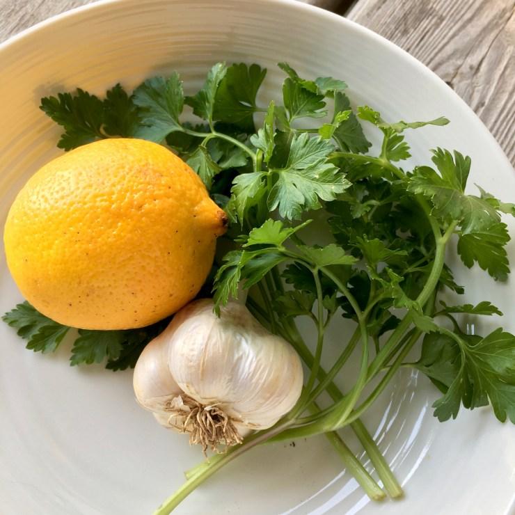lemon garlic parsley polka dot hen produce recipe