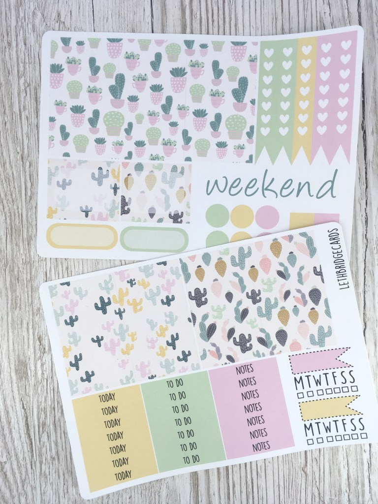 succulent happy planner kit