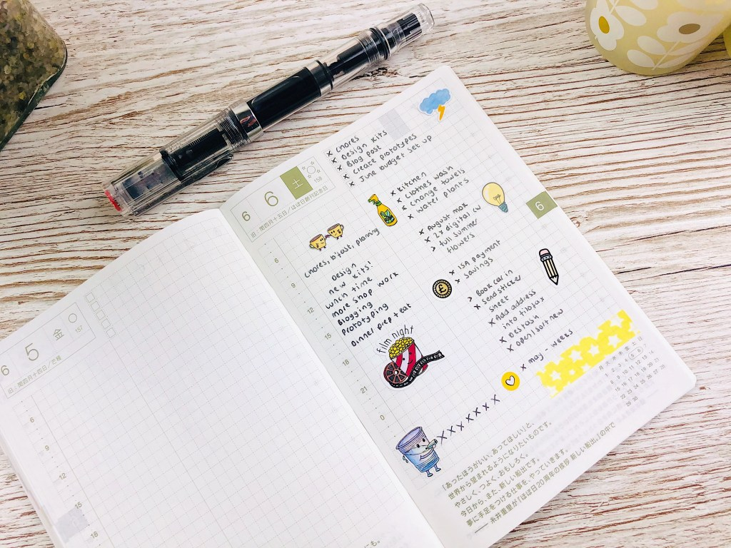 hobonichi techo original daily planning