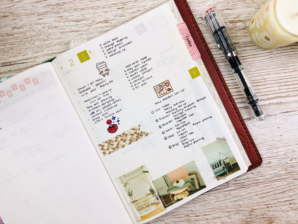 hobonichi cousin journalling