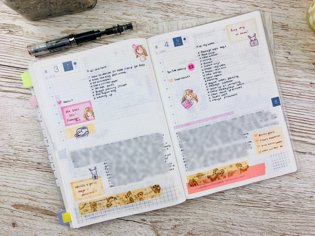 hobonichi cousin jounal pages