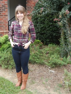 Plaid and high-waisted jeans | Christina's Best Life