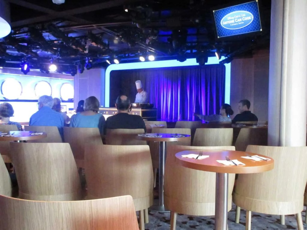cooking class activities on disney wonder