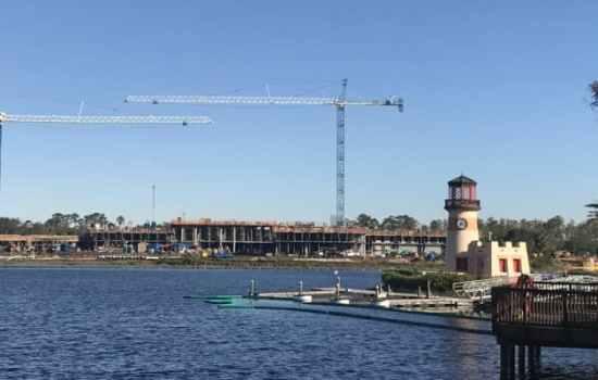 Caribbean Beach During Construction at Walt Disney World