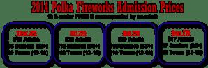 2014 ticket prices