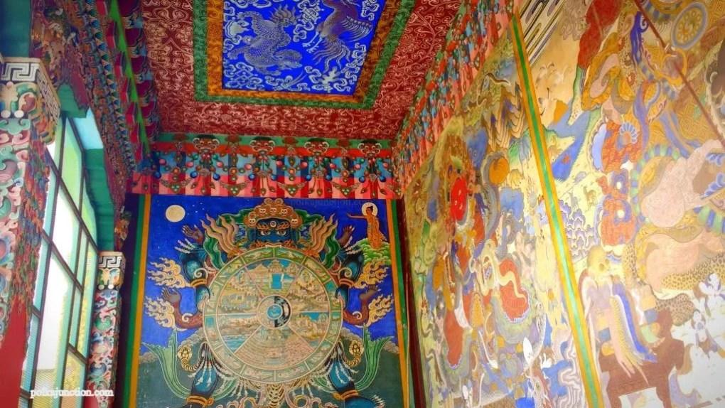 Mindrolling Monastery : Corridor ceiling
