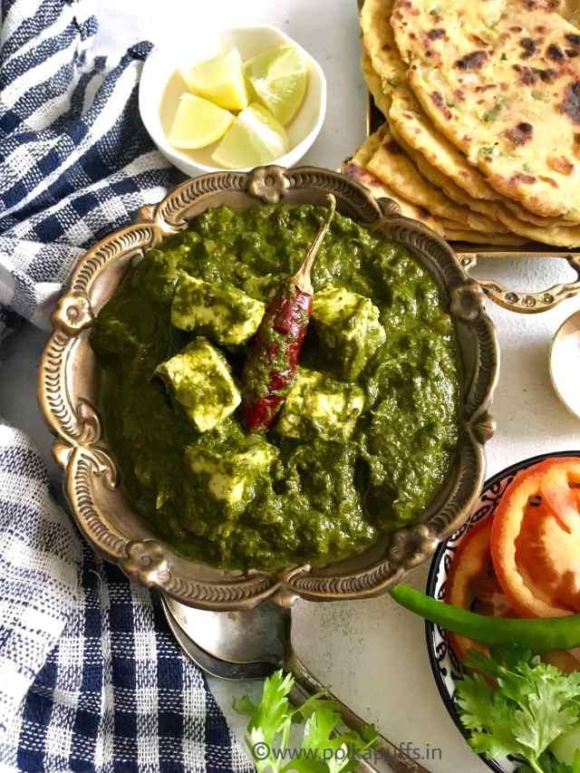 Dhabewala Palak Paneer aur Ajwaini Missi Roti