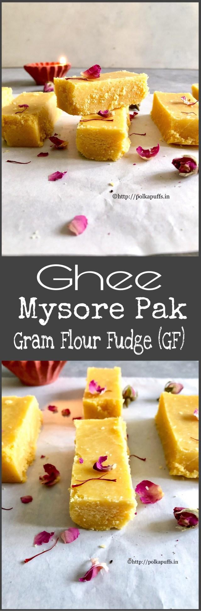 Ghee Mysore Pak   How to make Mysore Pak
