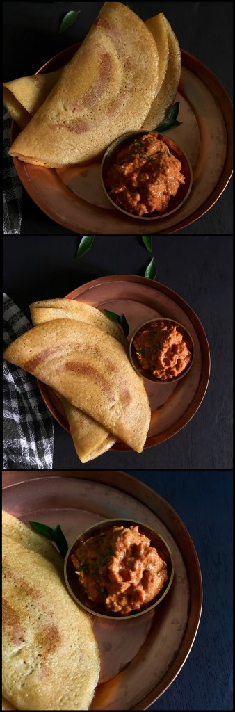 Adai withTomato Oinion chutney