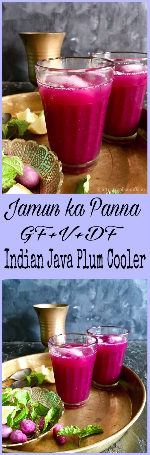 Indian Java Plum Cooler | Jamun ka Panna