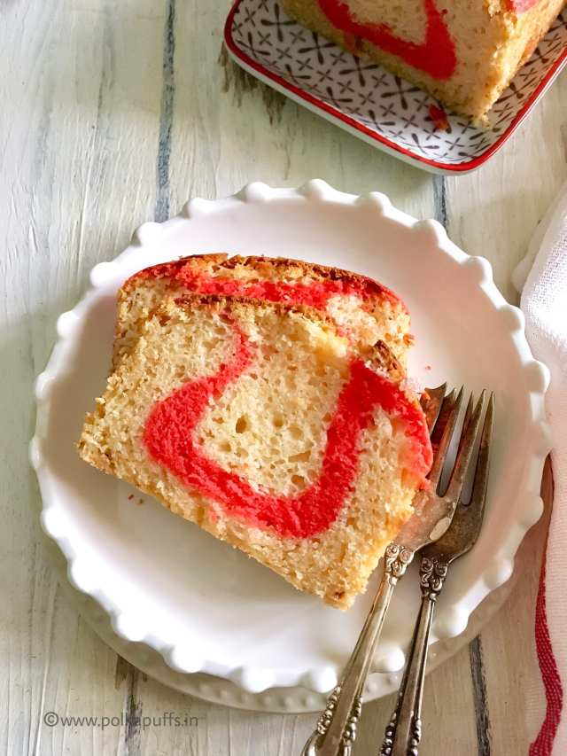 Bakery Style Ribbon Cake | Egg free, Butter free Recipe