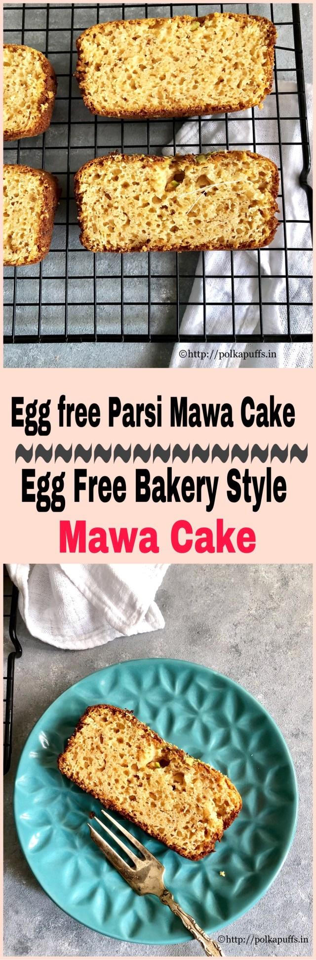 Egg free Parsi Mawa Cake   Egg free Bakery Style Mawa Cake