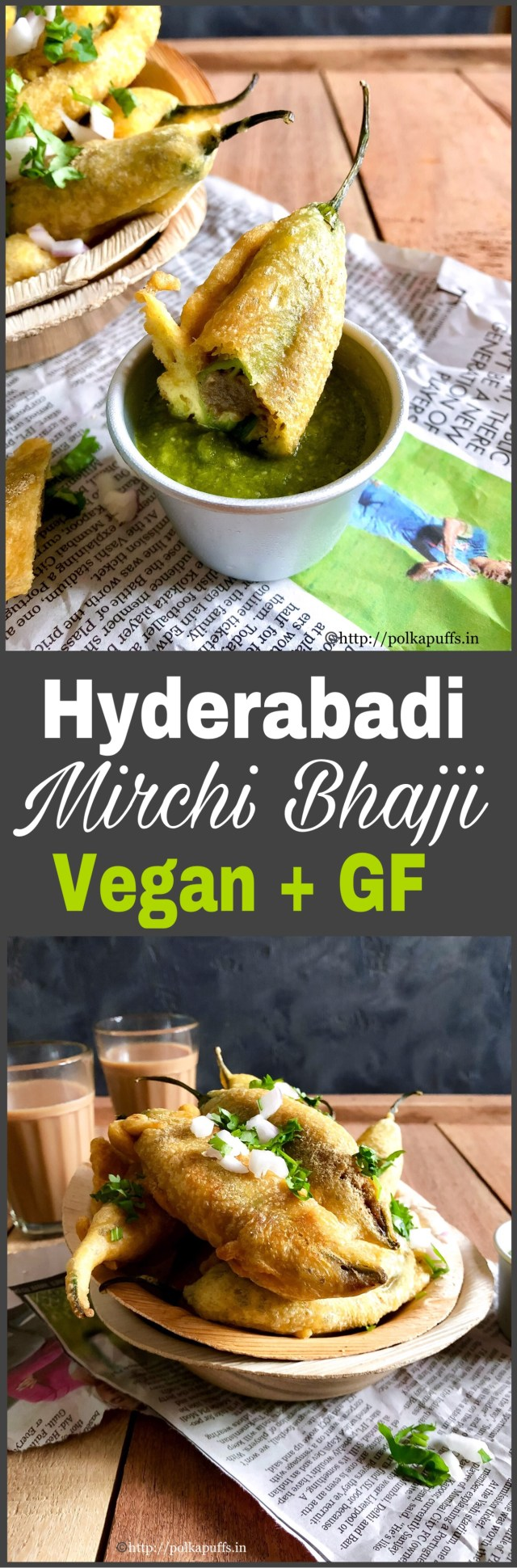 Hyderabadi Mirchi Bhajji Vegan & GF | How to make Hyderabadi Mirchi Wada