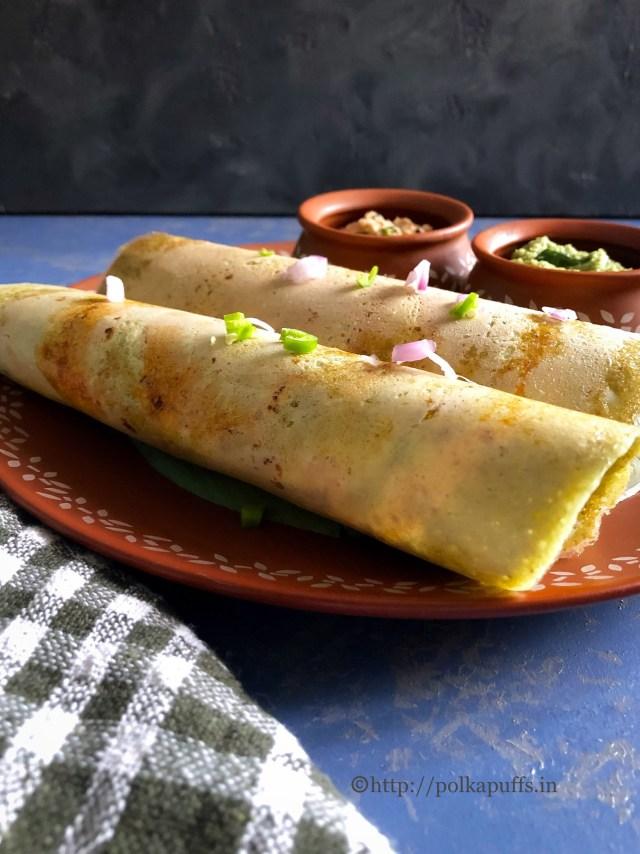 Pesarattu | Vegan and Gluten free Lentil Crepes