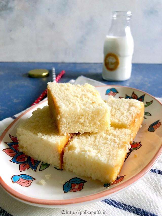 Egg free Hot Milk Cake   How to make Hot Milk Cake