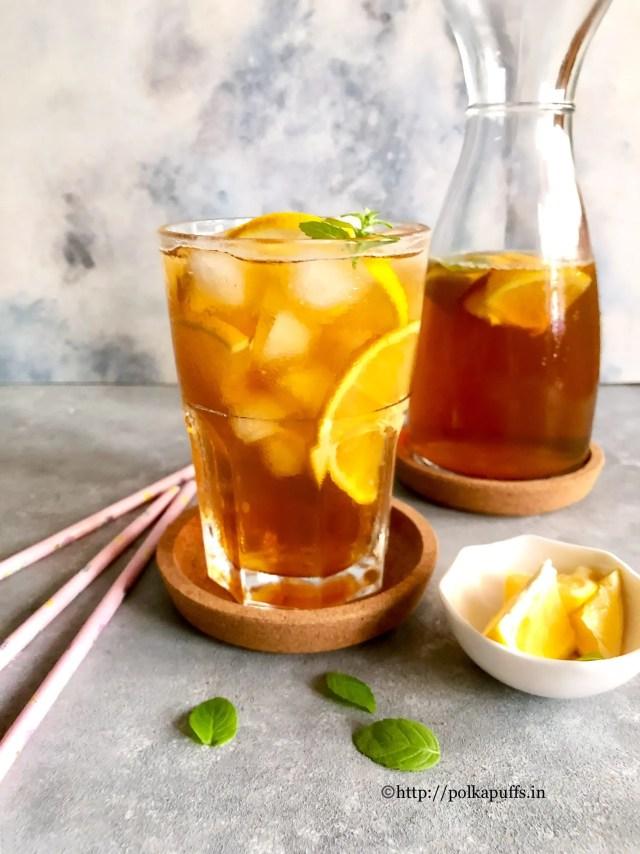 Lemon Iced Tea | How to make Lemon Iced Tea