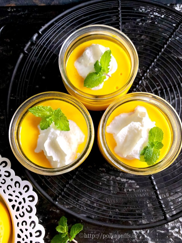 Egg Free No Bake Mango Pudding | Gelatin Free Mango Pudding