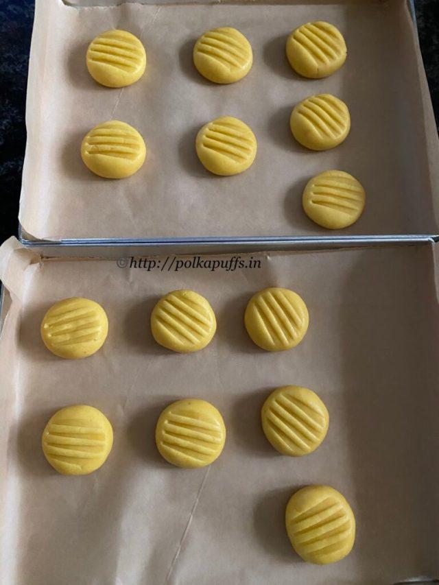 Eggless Custard Cookies   Custard Cookies Recipe