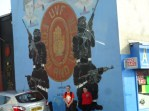 Mural celebrating UVF, a paramilitary extremist group