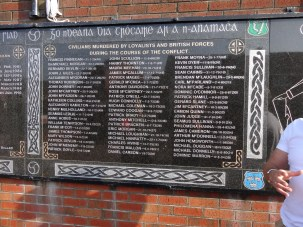 List of civilians from the surrounding streets who died during the Troubles