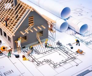Grundriss mit Modellbau-Haus