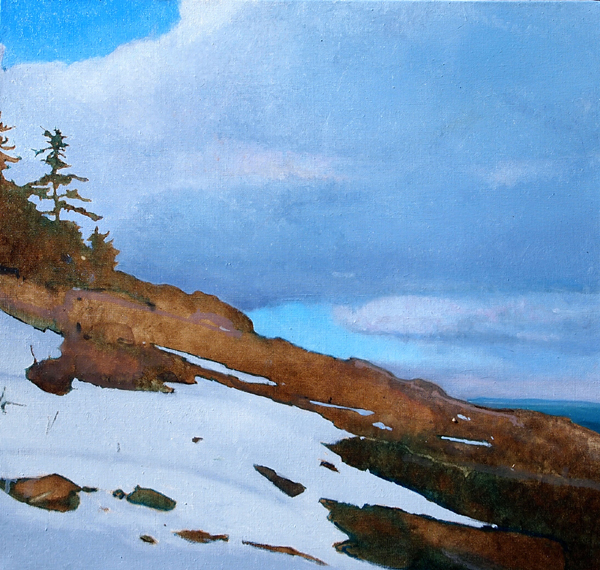 Late Snow, 19 x 20 inches, oil on linen