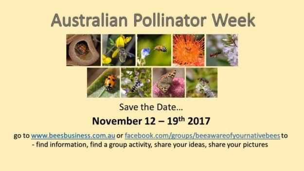 Australian Pollinator Week 2017 banner