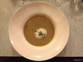 lentil soup with lime foam