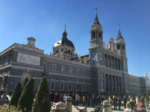 Almudena Cathedral from the back