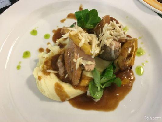 pork fillet with caramelized apples and horseradish @Maribor, Slovenia