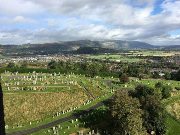 cemetery below Stirling Castle