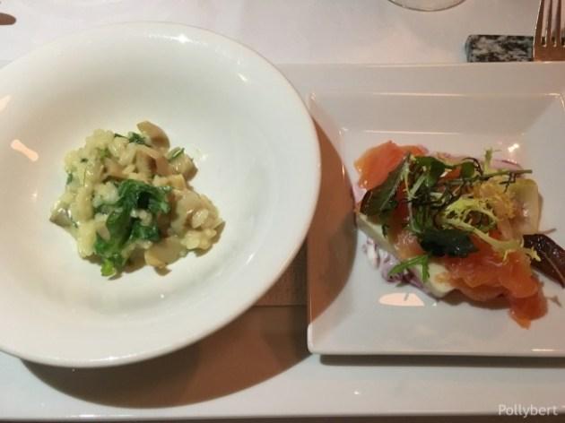 porcini risotto and smoked salmon @Gasthaus Freyenstein