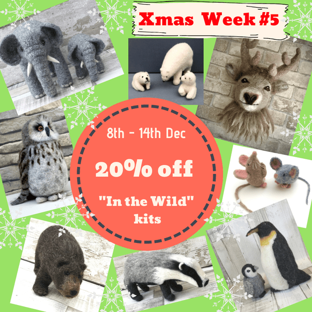 20% off all 'In the Wild' kits this week at Knit2Felt