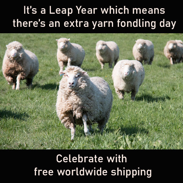 Free worldwide shipping from The Knitting Goddess