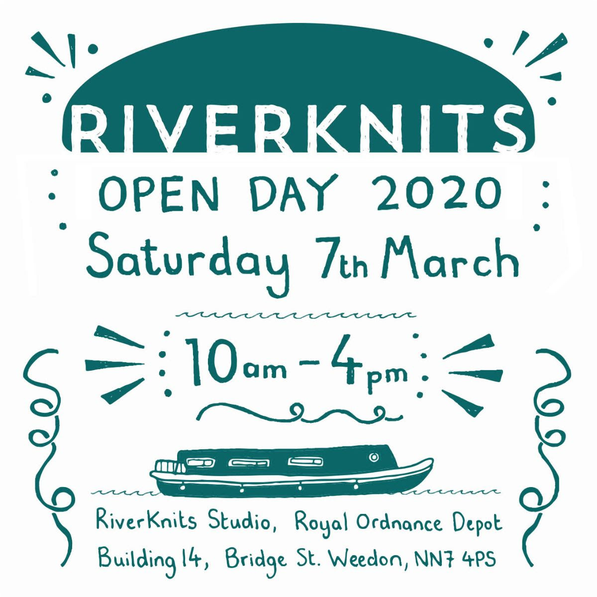 RiverKnits Open Day 2020 Saturday 7th March