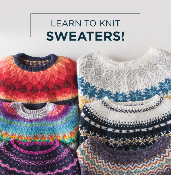 Learn to knit sweaters with Knit Picks