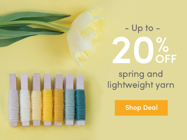 Up to 30% off spring & lightweight yarn at LoveCrafts