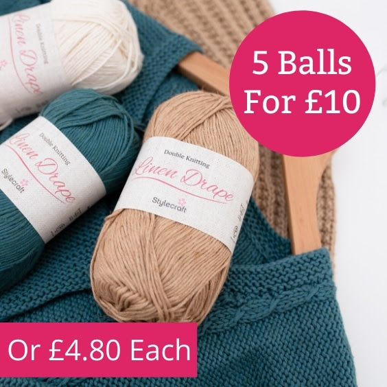 Stylecraft Linen Drape – 5 balls for £10 at The Knitting Network