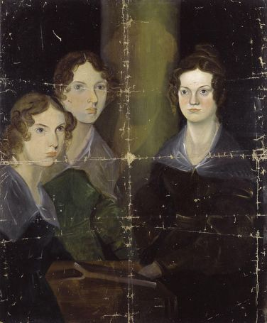 Brontë portrait: the only surviving group portrait of the three Brontë sisters painted by Branwell Brontë, who hoped to become a professional artist. The faded column is believed to be a self-portrait of Branwell before he later removed himself from the painting.