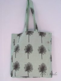 Pea green square tote bag