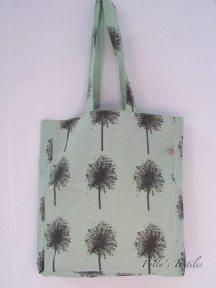 Pea green square tote bag