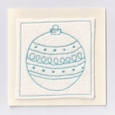 Handmade Christmas Card in Turquoise