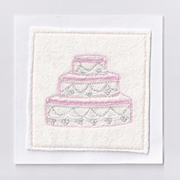 Handmade Wedding card.