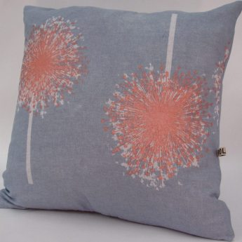 Aliums handmade cushion